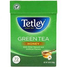 Tetley Natural Green Tea With Honey 72 Tea Bags