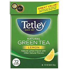 Tetley Natural Green Tea With Lemon 72 Tea Bags