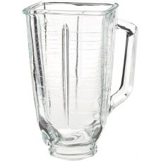 "Oster 5-Cup Glass Square Replacement Blender Jar, 4.5"" Top for Oster Models Only"