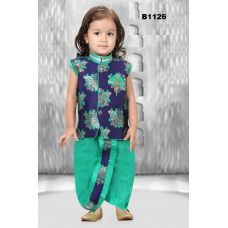 Boys Blue and sea green Dothi Kurta set