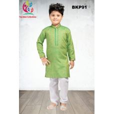 Boys Green Cotton Traditional Kurta Pajama Set 1 to 13 Years
