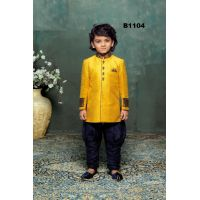 Bright Yellow & Blue Kurta Pajama for Boys 1 to 10 Year Old