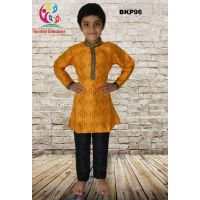 Fancy Festive Yellow Silk Party Wear Kurta Pajama Boys 3 to 15 Year