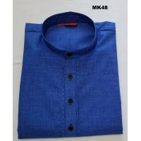 Classic Pure Cotton Blue Traditional Kurta Tunic for Men