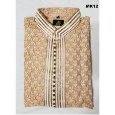Gorgeous Beige & White Kurta Pajama for Men M/L