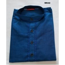 Indian Classic Pure Cotton Ethnic Royal Blue Kurta Tunic for Men