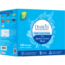 Pure Cane Sugar with Herbal Extract Blend - Low Glycemic - 100 ct Individual Sachets