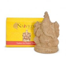 "3.5"" Eco-Friendly Ganesh Idol Villianur Clay Best for Ganesh Chaturthi"